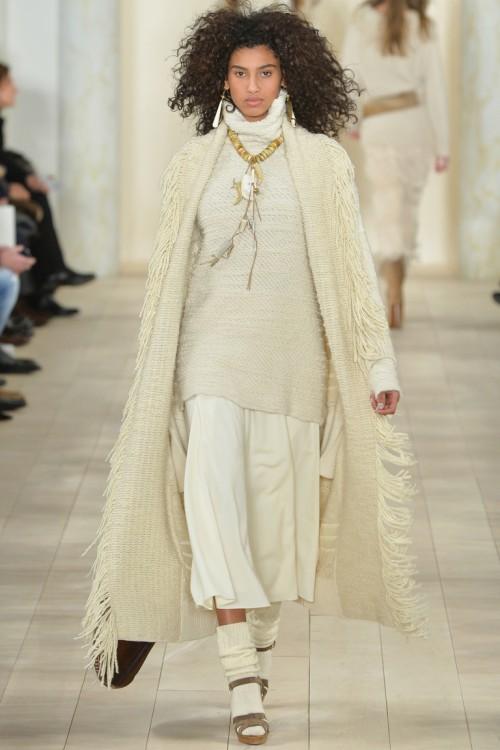 осень-зима 2015-2016, NYFW, knitwear, Неделя моды, вязана мода, вязаный кардиган с бахромой, длиненный свитер (фото 15)