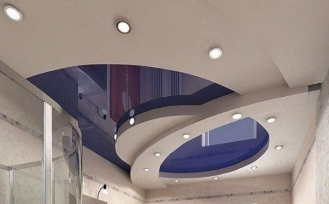 натяжные потолки варианты дизайна