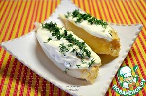 Рецепт: Кальмар фаршированный ананасом