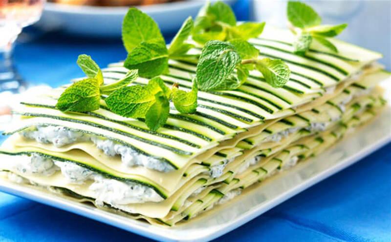Вкусное и полезное блюдо: Лазанья из кабачков