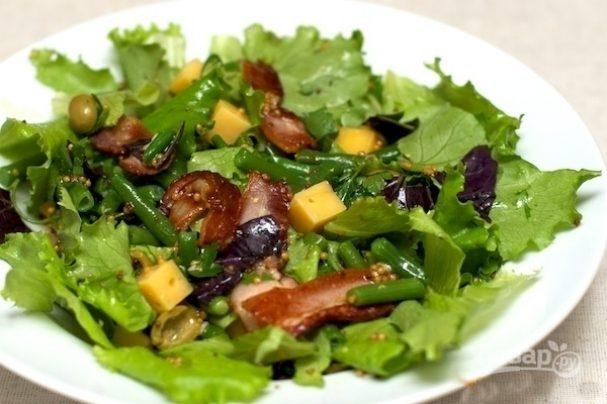Салат с замороженной фасолью