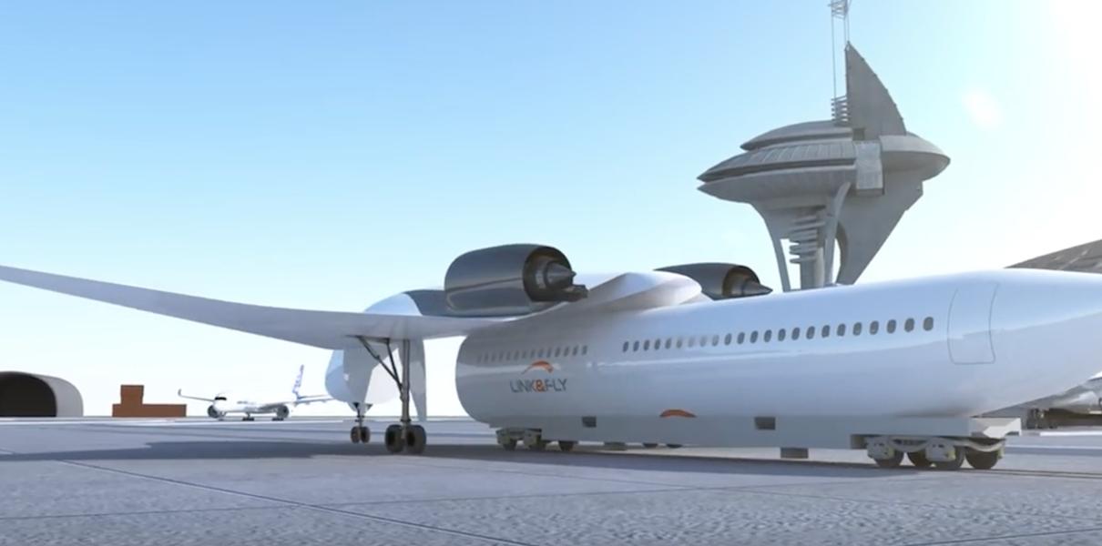 Транспорт будущего: широкой публике представили гибрид поезда и самолета