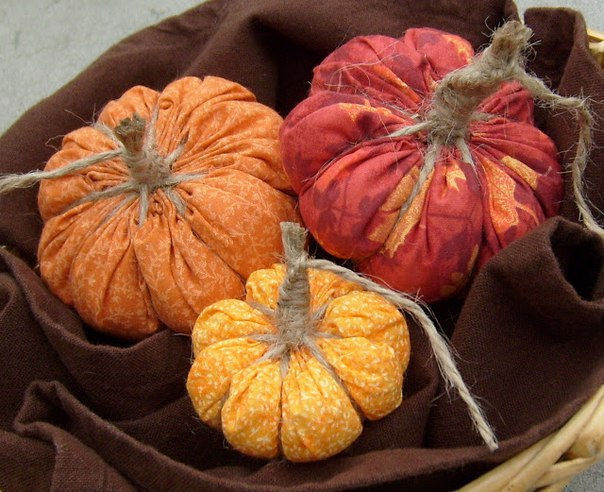 Тыковки из ткани. Осенний де…