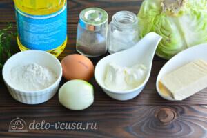 Капустные котлеты с плавленым сыром: Ингредиенты