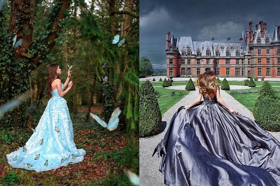 Ей завидует весь Инстаграм: cибирячка фотографируется на фоне красивейших замков мира в королевских платьях