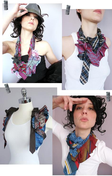 Украшения из мужских галстуков