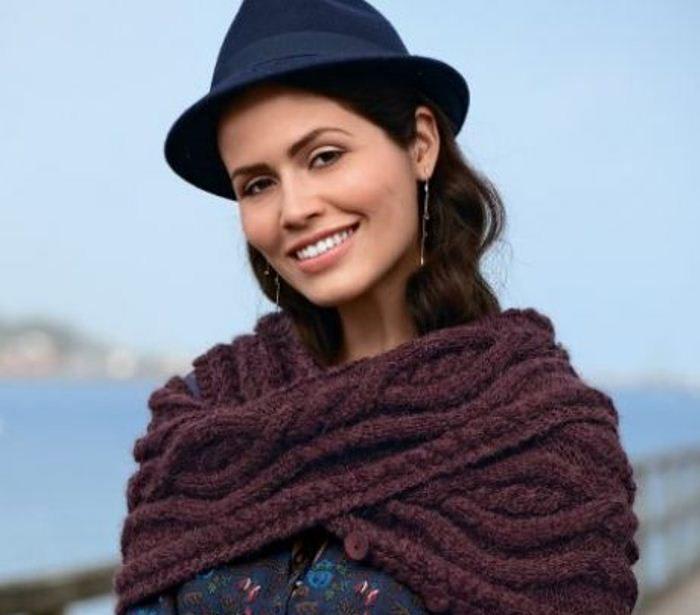 Как носить шарф-снуд