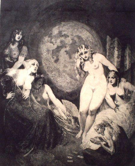 Прелестные нимфы, козлоногие обольстители и демоны в картинах Нормана Линдсея 1