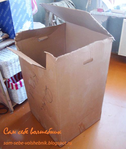 Как сделать тумбочку из коробок фото 254