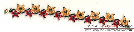Оригинальные и не трудные в исполнении браслеты из бисера.