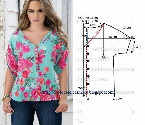 Сшить простую летнюю блузку