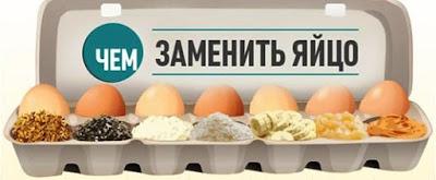 Чем заменить яйцо?