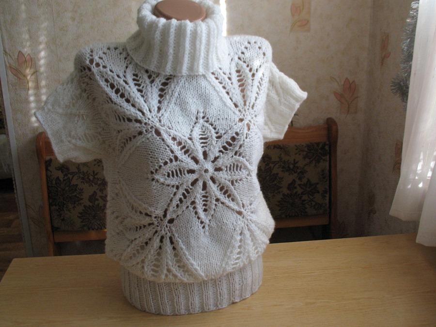 Пуловер Морозный узор
