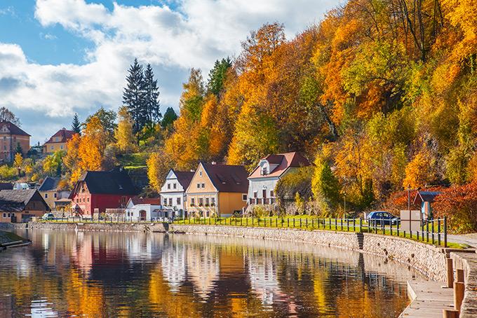 Осенняя идиллия в Чески-Крумлове, Чехия