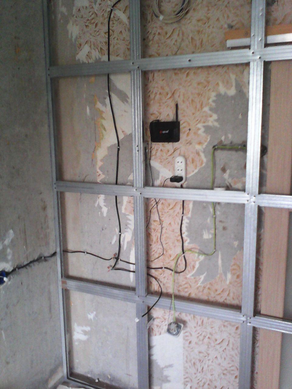 Электро проводка и wi-fi будут спрятаны под гипсокартоном ремонт, рукожопие, японский стиль