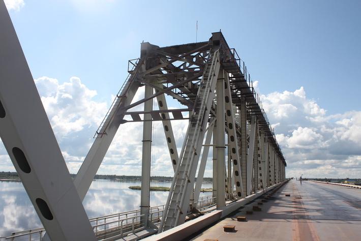 Строительство железнодорожной части моста через реку надым может начаться в 2017 году