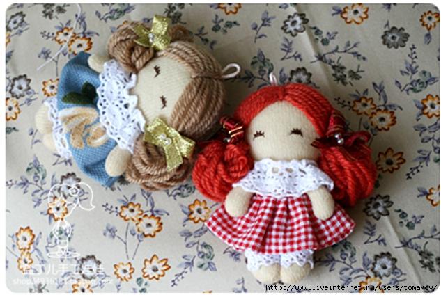 Маленькие куколки из ткани своими руками