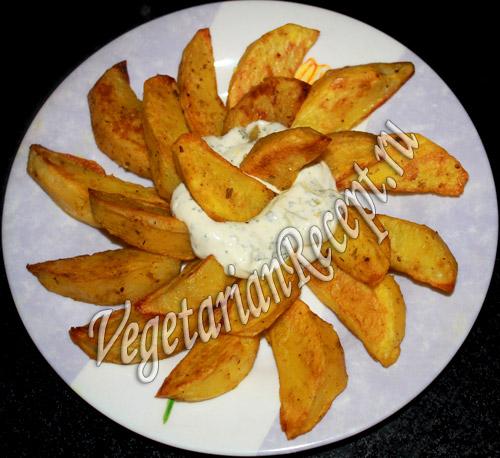 Картошка дольками с фаршем в духовке рецепт