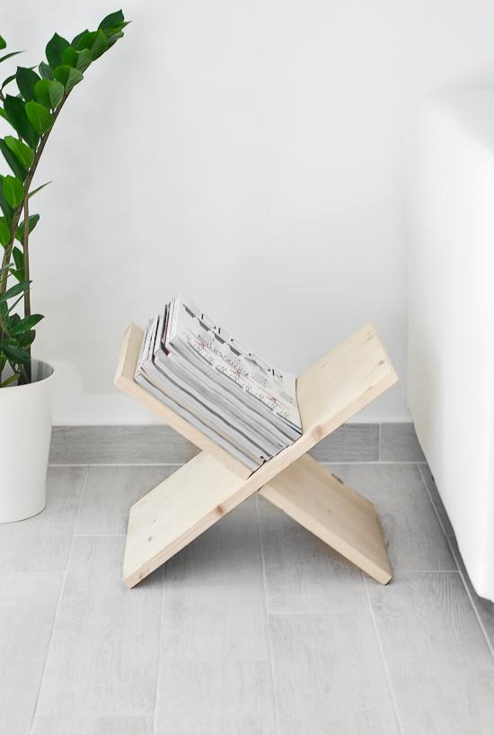 Х-образная подставка для журналов и книг