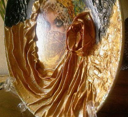 """Декоративная посуда ручной работы. Ярмарка Мастеров - ручная работа тарелка """" тысяча и одна ночь"""". Handmade."""