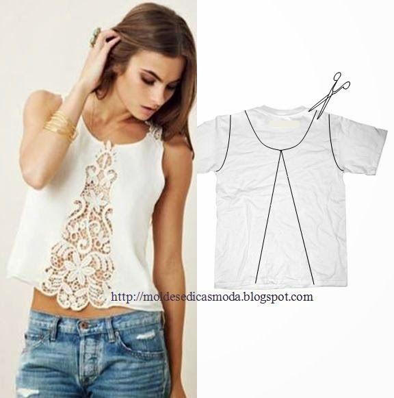 MODA E Dicas DE COSTURA: reciclagem DE Camisas E-Shirt - 2