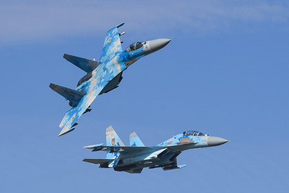 Украинские Су-27 - дышащие н…