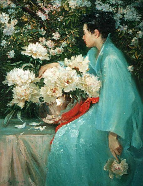 букет пионов цветы