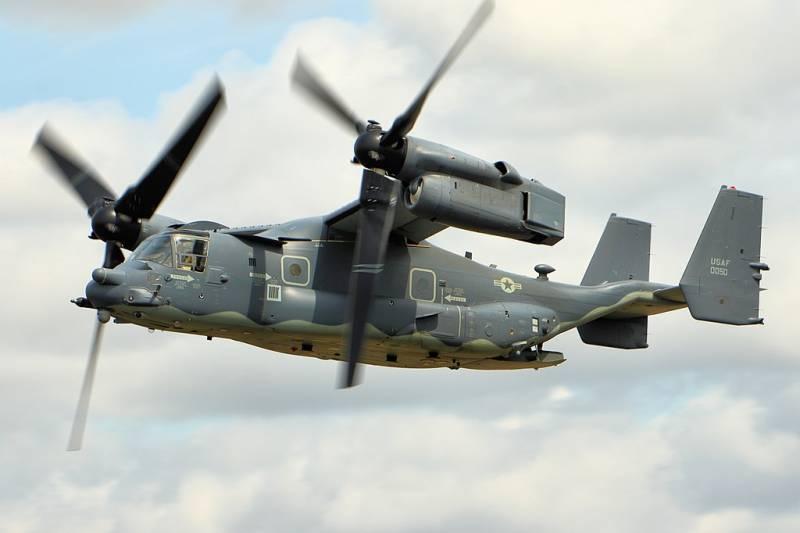 Конвертоплан СV-22В Osprey авиации сил специальных операций ВВС США