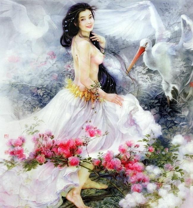 Великолепная китайская живопись Ji Shuwen