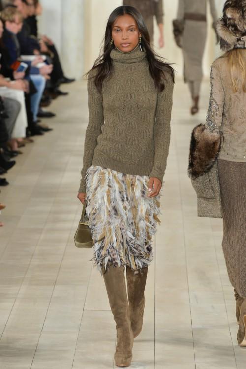 осень-зима 2015-2016, NYFW, knitwear, Неделя моды, вязана мода, кэмел, вязаный свитер (фото 3)