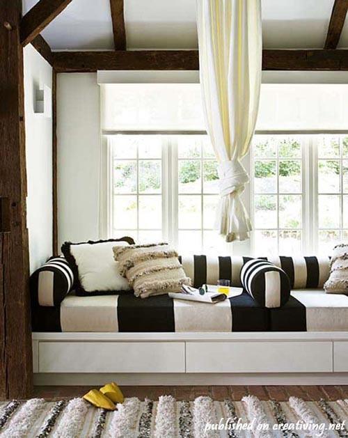 Невероятно уютные подоконники как место для отдыха