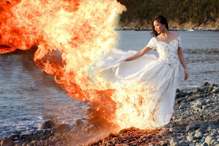 Чумовой тренд: trash the dress или платье в хлам (фото)