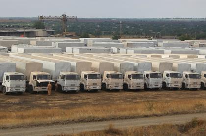 Российская гуманитарная помощь прибыла в Луганск