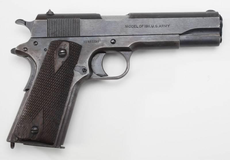 Армейский пистолет в США. Часть 1