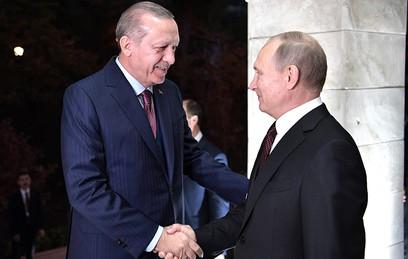 Путин обсудил с Эрдоганом ситуацию в Сирии и вопросы сотрудничества