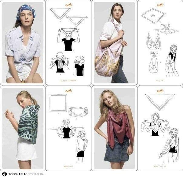 20 оригинальных вариантов как носить шарф 5