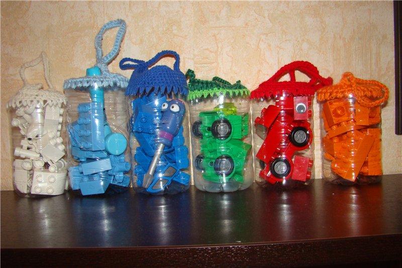 Ведро из пластиковых бутылок своими руками