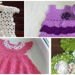 Платье для девочки. Крючок (подборка из 28 моделей)