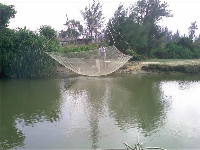 рыбалка на паук с берега
