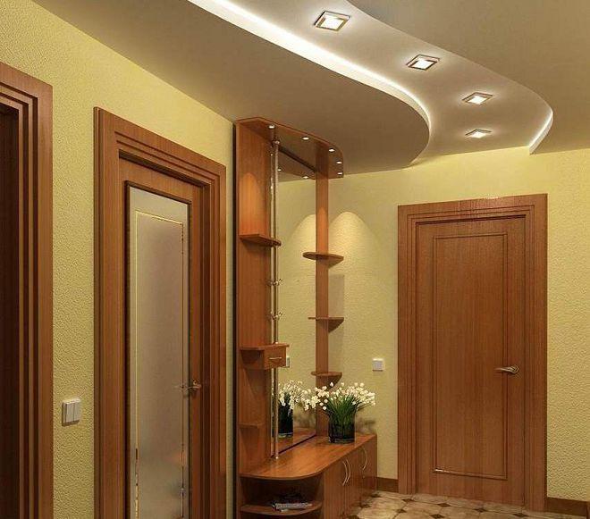 варианты деревянных потолков