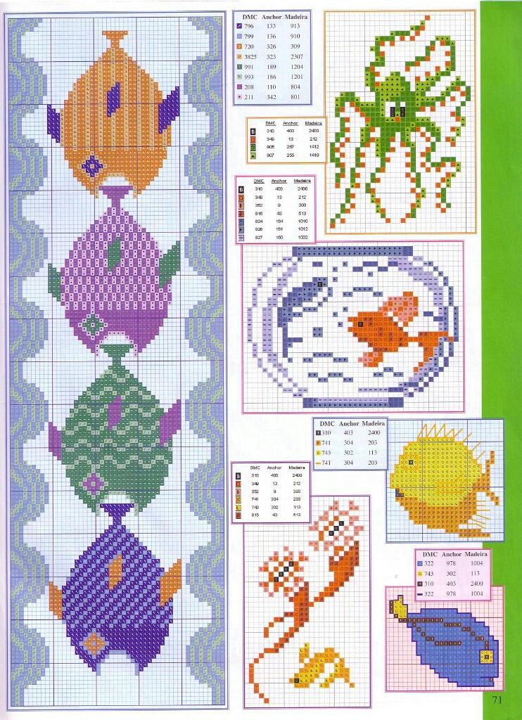 Схема вышивка крестом рыбы схемы 79