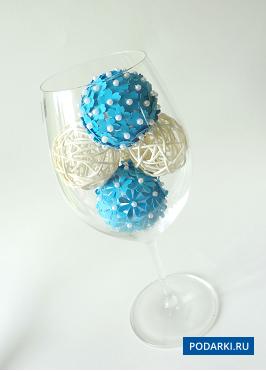 Декоративные шарики своими руками