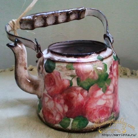 Поделка из старого чайника фото