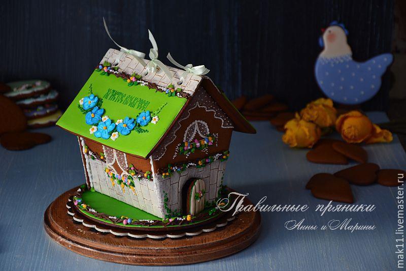 Пряничный домик на Пасху. Пасхальный пряничный домик.