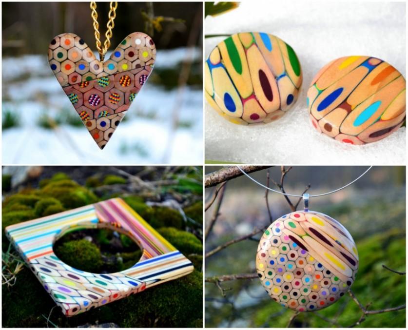 Необычные украшения из самых разных материалов