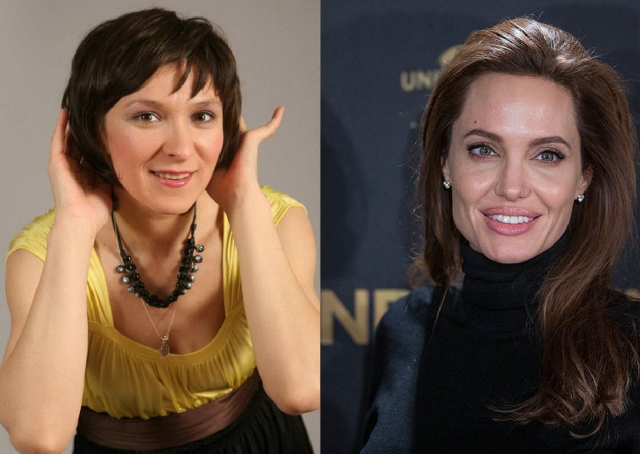 12. Олеся Железняк и Анджелина Джоли, 40 лет звезды, люди, ровесницы