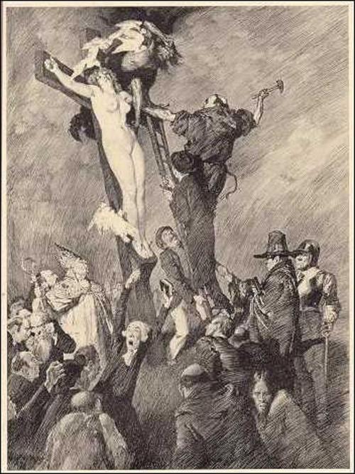 Прелестные нимфы, козлоногие обольстители и демоны в картинах Нормана Линдсея 14