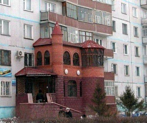 13. Хорошо быть хозяином небольшого замка. балкон, дизайн, креатив