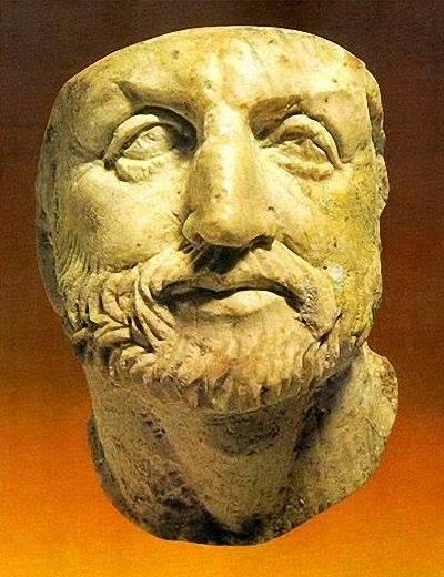 Компьютерная реконструкция лица македонского царя Филиппа II , отца Александра Великого.