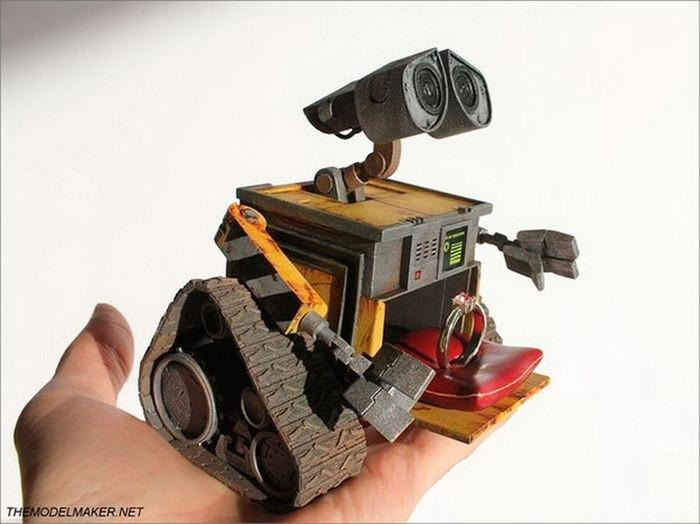 Коробочка для кольца в виде милого робота Wall-E диза, кольцо, креатив